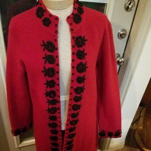 Kenar wool embroidered coat